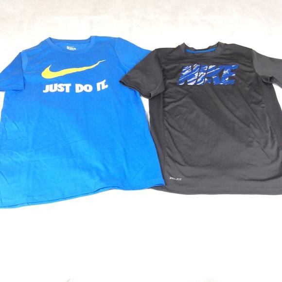 a66e5cf8 Nike Shirts & Tops   Boys Tshirt Lot Blackblue Size Large D   Poshmark